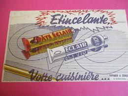 Buvard/Pâte  D'entretien Cuisinière/Pâte ÉCLAIR/Étincelante Votre Cuisinière/Ghesquiéres/LILLE/ Vers 1940-1960    BUV331 - Wassen En Poetsen