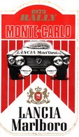 "MONACO -- AUTOCOLLANT Plastique -- RALLY  1973 MONTE CARLO -- "" LANCIA Marlboro "" - Voitures (Courses)"