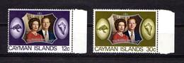 CAYMAN  ISLANDS    1972    Royal  Silver  Wedding    Set  Of  2    MNH - Cayman Islands