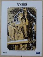 Poster 30x40 Glénat Cultura. Conan Le Cimmérien Le Colosse Noir. D'après Robert Howard. Femme Sexy Seins Nus Voilage - Ex-libris