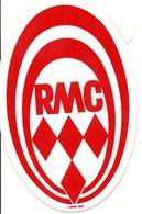 """MONACO -- AUTOCOLLANT STICKER Plastique -- R.M.C. """" Radio Monte Carlo """" - Voitures (Courses)"""