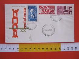 A.09 ITALIA ANNULLO - 1965 ROMA 20 ANNI RESISTENZA PARTIGIANI SECONDA GUERRA MONDIALE WAR 1945 - Seconda Guerra Mondiale