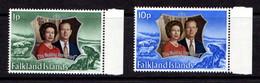 FALKLAND  ISLANDS    1972    Royal  Silver  Wedding    Set  Of  2    MNH - Falkland Islands