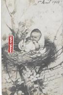 """1ER  Avril   1903. PETIT BÉBÉ Dans Un Nid De """"cigogne"""" - 1er Avril - Poisson D'avril"""
