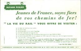 Jeunes De France Soyez Fiers De Vos Chemins De Fer. La Vie Du Rail. - Buvards, Protège-cahiers Illustrés