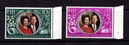 FIJI    1972    Royal  Silver  Wedding    Set  Of  2    MNH - Fidji (1970-...)