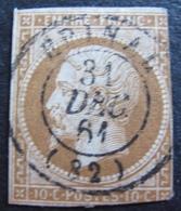 DF50500/261 - NAPOLEON III N°13Bb Brun - BEAU CàD D'EPINAL (Vosges) 31 DEC 1861 - Cote : 75,00 € - 1853-1860 Napoléon III