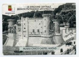 Ticket D'entrée Illustré / Entrance Ticket / Biglietto / Ulaznica - Museo Civico Castel Nuovo - Comune De Napoli, Italia - Tickets D'entrée