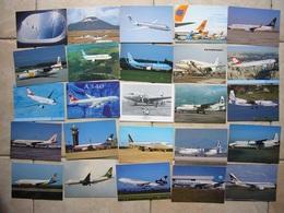 Avion / Airplane / Aer Lingus - TAP - Turkish Airlines - Condor - Lufthansa Etc... / 50 Cartes Différentes - 1946-....: Ere Moderne