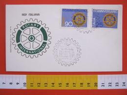 A.09 ITALIA ANNULLO - 1970 CARATE BRIANZA MILANO SEREGNO DESIO 65 ANNI ROTARY INTERNATIONAL - Rotary, Lions Club
