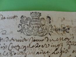 28 Février 1688 Généralité De Limoges (Haute-Vienne) N°73 Feuille De UN SOL Belle Marque Coq - Cachets Généralité