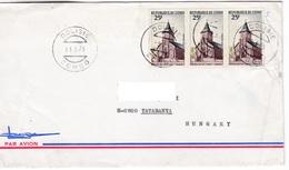 M443 Congo Lettre Dolise 1975 3x Eglise à Linzolo Timres - Congo - Brazzaville