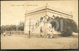 OLD POSTCARD DEPOSITO AGUA  PRAIA SAO TIAGO CABO VERDE CAP VERT AFRICA AFRIQUE POSTAL CARTE POSTALE - Cap Vert