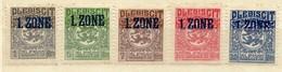Schleswig, 1920, Mi 15-18; 20 * [170219XXIII] - Deutschland