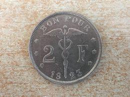 1923 Belgium 2 Francs Rare 'Belgique' Coin Ex Fine - 08. 2 Francs