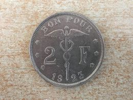 1923 Belgium 2 Francs Rare 'Belgique' Coin Ex Fine - 1909-1934: Albert I