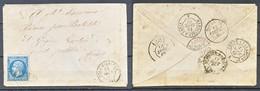 TIMBRE - FRANCE - Marcophilie - LETTRE - 1867 - Storia Postale