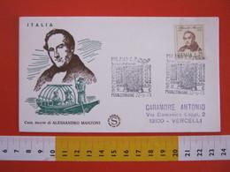 A.09 ITALIA ANNULLO - 1973 MILANO 100 ANNI MORTE ALESSANDRO MANZONI CELEBRAZIONI MANZONIANE PORTA - Scrittori