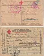 2 CARTE Prisonnier Croix Rouge ( Demande Et Reponse ) -> Tchecoslovaquie Les 6.12.17 & 19.7.16+ Diverses Censure - 1917-1923 Republic & Soviet Republic