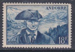 Andorre N°  133  XX Armoiries Et Paysages, Partie De Série : 18 F. Bleu Sans Charnière, TB - Andorre Français