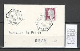 Algerie - Lettre - Cachet Hexagonal TABERDGA  SAS - Marcophilie - Algérie (1924-1962)