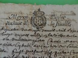 24 Avril 1683 Généralité De Limoges (Haute-Vienne) N°65 Moyen Papier à 18 Denier Format Rare Couronne - Cachets Généralité