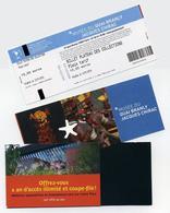 Ticket D'entrée + Porte-ticket + Brochure. Musée Quai Branly Jaques Chirac, Paris (France) 2019 - Tickets D'entrée