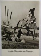 Micky Maus (Osten DDR) Geburtstagskarte Ca. 60er Jahre (63216) - Anniversaire