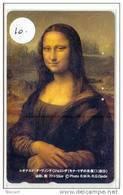 Telecarte JAPON Leonardo Da Vinci (10) Mona Lisa * JOCONDE *  Telefonkarte Japan * PEINTURE * PAINTING * MAHLEREI - Peinture