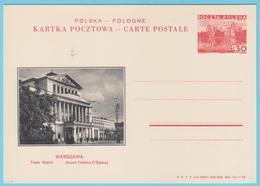 J.M.24 - Pologne - Entier Postal - N° 39 - Opéra - Grand Théâtre - Music