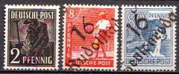 Deutschland Alliierte Besetzung Mit Bezirkshandstempel Bezirk 16 3 Marken Mit BPP Signature - Zone Soviétique