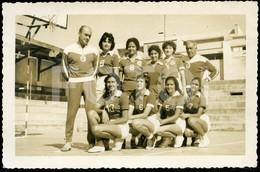1961 REAL PHOTO FOTO POSTCARD ATLETAS SPORT LISBOA BENFICA SLB PORTUGAL POSTAL CARTE POSTALE - Athlétisme