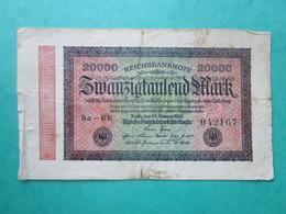 · Billet, Allemagne, 20 000 Mark  -  Ft: 16 X 9,5 Cm - 1923 - [ 4] 1933-1945 : Tercer Reich
