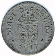 Allemagne - Nécessité - 10 Pf 1917 (zinc) DARMSTADT - Noodgeld