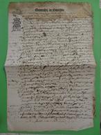"""Janvier 16?4 Généralité De Limoges (Haute-Vienne) N°2 """"huit Deniers Pour Demy Feuille"""" Couronne Cession - Cachets Généralité"""