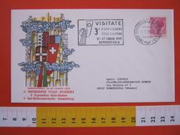A.09 ITALIA ANNULLO - 1975 ESPOSIZIONE EXPO ITALO SVIZZERA HELVETIA BANDIERE TARGHETTA - Vacanze & Turismo