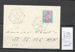 Algerie - Lettre - Cachet Hexagonal TIFELFEL  SAS - Marcophilie - Algérie (1924-1962)