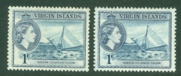 British Virgin Is: 1956/62   QE II - Pictorial   SG150 / 150a   1c    Slate And Slate-violet   MH - British Virgin Islands