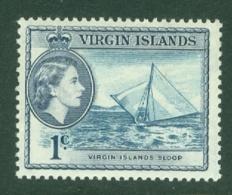 British Virgin Is: 1956/62   QE II - Pictorial   SG150   1c  Turquoise-blue & Slate  MH - British Virgin Islands