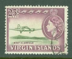 British Virgin Is: 1964/68   QE II - Pictorial   SG188   25c    Used - British Virgin Islands