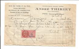 VP.0398/ Pons - Charente-Maritime - Thiriet Construction Bois - Timbre Fiscal - France
