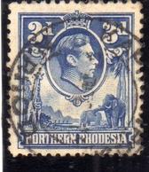 NORTHERN RHODESIA NORD RODESIA 1938 1952 KING GEORGE VI 3p 3d RE GIORGIO USATO USED OBLITERE' - Rhodesia Del Nord (...-1963)