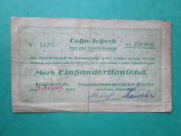 · Billet, Allemagne, 100.000 Mark  -  Ft: 17, X 10 Cm - 1923 - [ 4] 1933-1945 : Third Reich