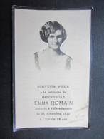 VP FAIRE-PART DéCéS (M1611) EMMA ROMAIN (2 Vues) 1917 - 31/12/1933 VILLERS-POTERIE - Décès