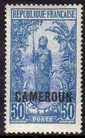 Cameroun N° 96 XX Timbre Du Congo Surchargé Cameroun , 50 C. Bleu Et Outremer, Sans Charnière, TB - Cameroun (1915-1959)