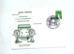 Carte Postale 1.4 Sabine Cachet Riquewihr Musee Illustré Telegraphe Breguet Foy - Cartoline Postali Ristampe (ante 1955)