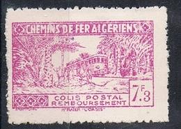 ALGERIE COLIS POSTAL N°153 N**  Variété Surcharge Absente - Parcel Post