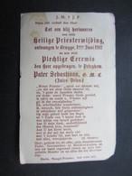 VP FAIRE-PART (M1611) HEILIGE PRIESTERWIJDING (2 Vues) 1/06/1912 - Faire-part