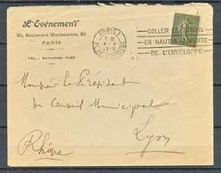 TIMBRE - FRANCE - Marcophilie - LETTRE - 1918 - Marcophilie (Lettres)