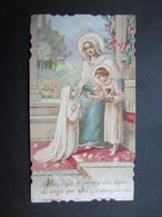 VP FAIRE-PART COMMUNION (M1611) MADELEINE DELREZ (2 Vues) Eglise Paroissiale De St Laurent ANDRIMONT 1/05/1932 - Communion